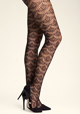 bebe Fan Crochet Tights