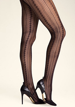 bebe Linear Crochet Tights