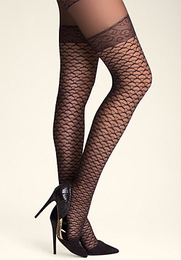 bebe Sheer Garter Tights