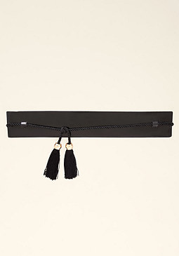 bebe Faux Leather Stretch Belt