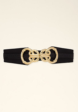 Circle Hardware Stretch Belt at bebe
