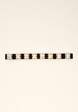 bebe Jeweled Metal Stretch Belt