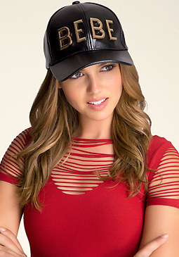 bebe Metal Logo Baseball Cap