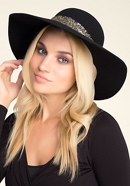 bebe Sequin Band Floppy Hat