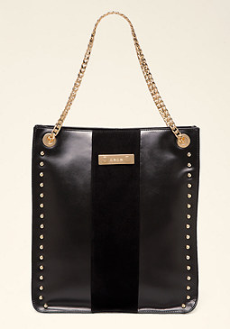 bebe Lesedi Leather Tote