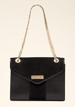 bebe Lesedi Leather Shoulder Bag