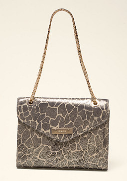 bebe Lesedi Leather Shoulder Bag