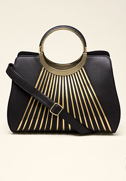 bebe Metallic Sunburst Handbag