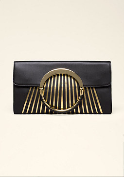 bebe Metallic Sunburst Clutch