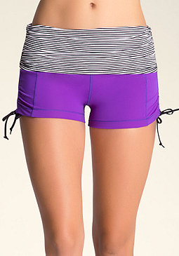 bebe Striped Shorts