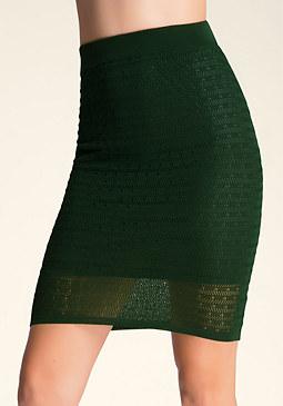 bebe Petite Pointelle Midi Skirt