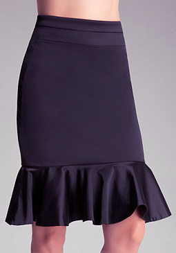 Petite Tiana Peplum Skirt at bebe