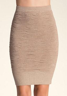 bebe Shirred Sweater Skirt