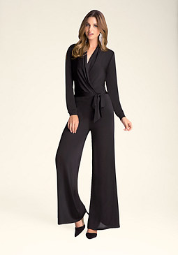 bebe Slinky Open Sleeve Jumpsuit