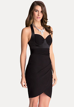 bebe Bustier Halter Dress