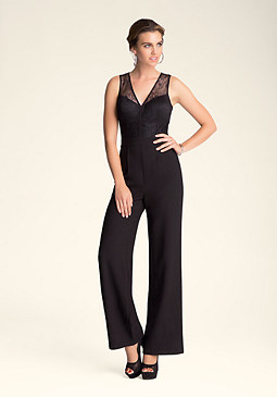 Petite Lace Jumpsuit at bebe