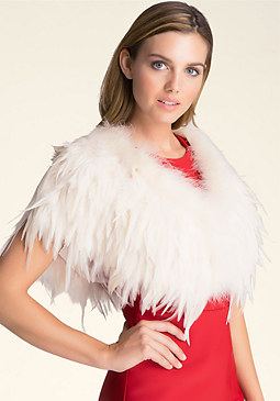 Feather Capelet at bebe