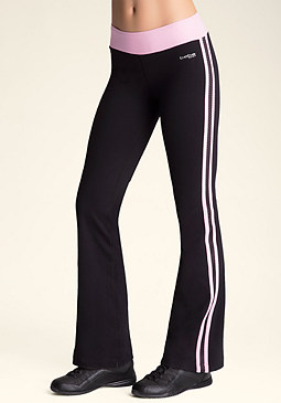 bebe Stripe Bootcut Pants
