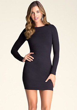 Long Sleeve Bodycon Dress at bebe