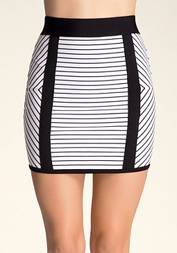 bebe Miter Stripe Skirt