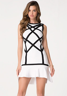 bebe Hi-Lo Bandage Dress