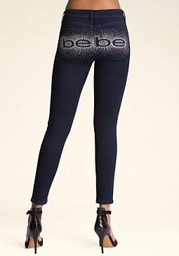 bebe Logo Knockout Skinny Jeans