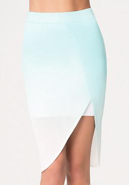 bebe Dip Dye Wrap Skirt