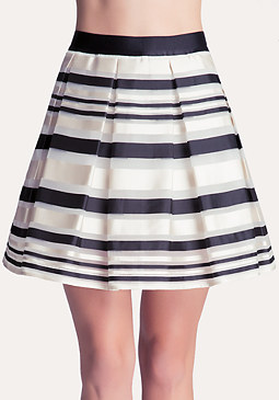 Sheer Stripe Skirt at bebe