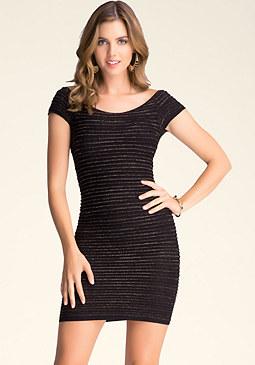 bebe Raglan Shimmer Dress