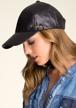 bebe Perforated Baseball Cap