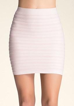 bebe Mix Ottoman Shimmer Skirt