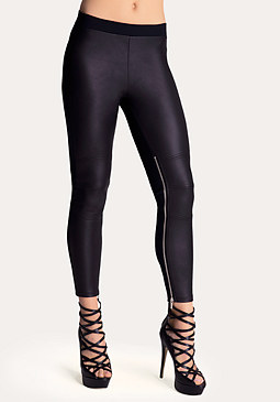 bebe Zip Moto Leggings