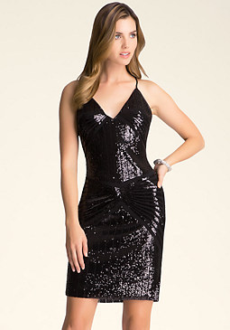 bebe Sequin Bodycon Dress