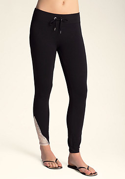 bebe Logo Lace Leggings