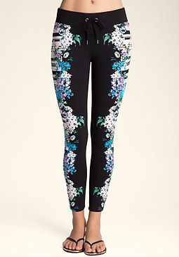 Logo Floral Leggings at bebe
