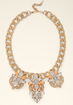bebe Oversized Crystal Necklace