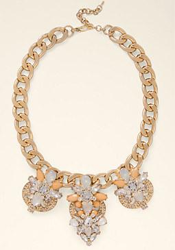 bebe Oversized Crystal Necklace