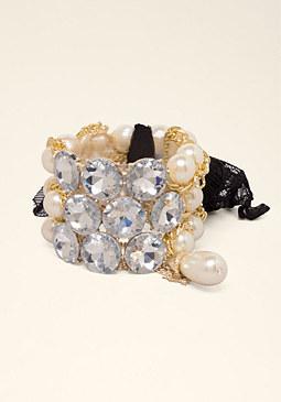 Pearl & Lace Bracelet Set at bebe