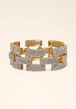 bebe Crystal Link Bracelet