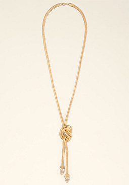 bebe Knotted Lariat Necklace