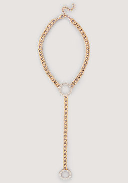 Open Circle Lariat Necklace at bebe