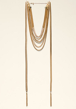 Draped Snake Chain Necklace at bebe