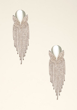 Crystal Waterfall Earrings at bebe