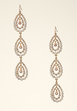 bebe Teardrop Duster Earrings