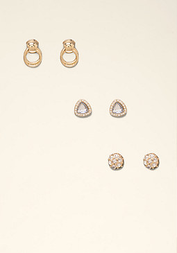 bebe Small Stud Earring Trio
