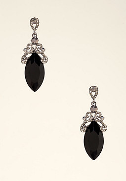 bebe Oval Drop Earrings