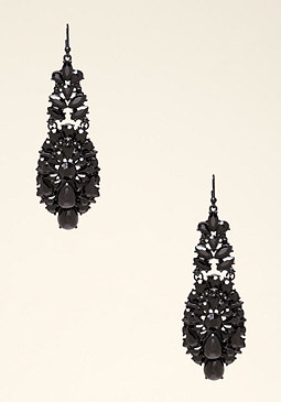 Crystal Statement Earrings at bebe