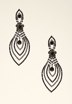bebe Dramatic Teardrop Earrings