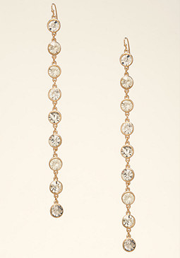 bebe Linear Crystal Earrings