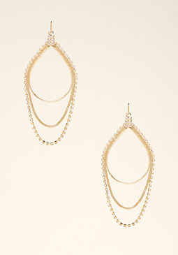 bebe Draped Crystal Earrings